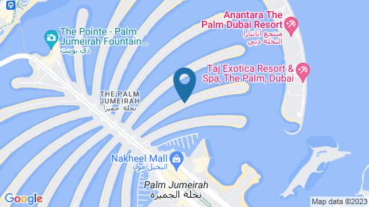 Dream Inn Dubai - Royal Palm Beach Villa Map