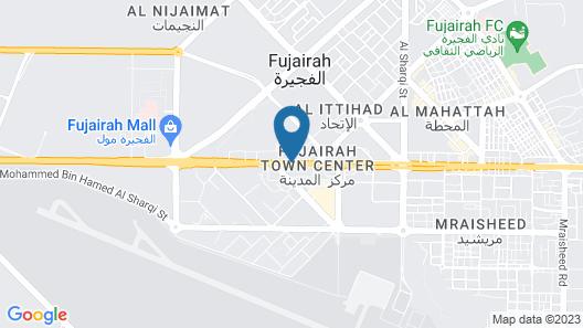 Concorde Fujairah Hotel Map