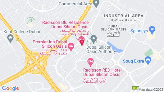Radisson Blu Hotel Apartment Dubai Silicon Oasis Map