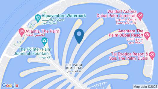 Dream Inn Dubai - Palm Villa Frond E Map