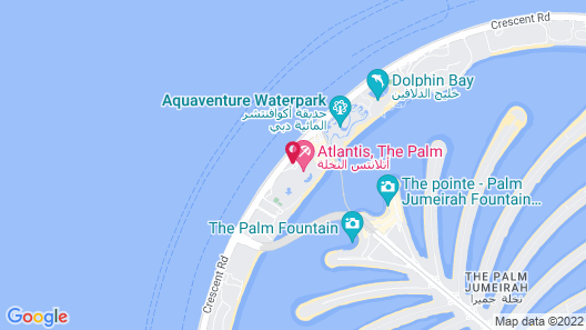 Atlantis The Palm Map