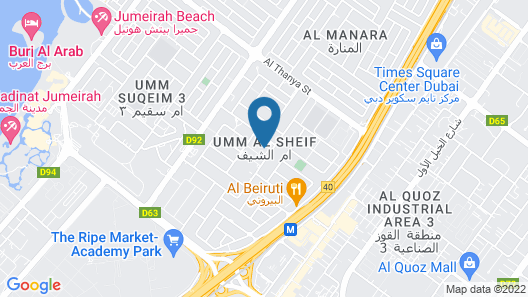 Brand New Apartments in Jumeirah Map