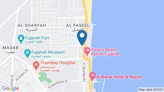 V Hotel Fujairah Map