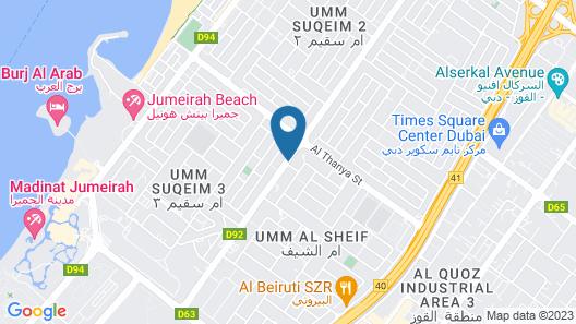 Lemon Tree Hotel Jumeirah Dubai Map