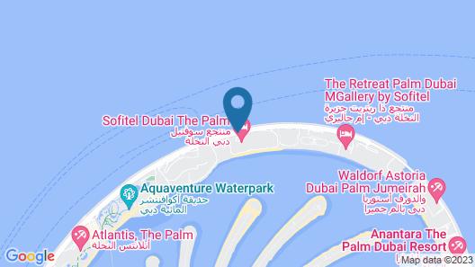 Sofitel Dubai The Palm Luxury Apartments Map