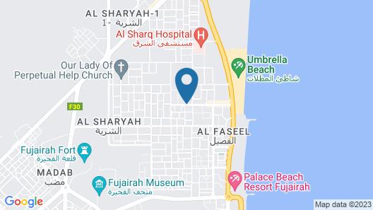 Fujairah Youth Hostel Map