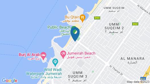Sokoun A True Emirati House by the Beach Map