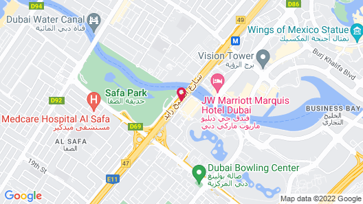 Hilton Dubai Al Habtoor City Map