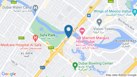 Hilton Dubai Al Habtoor City Map