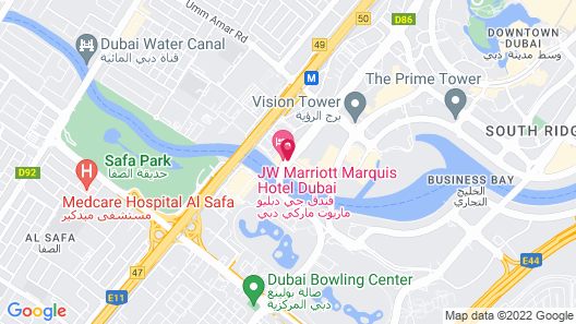 JW Marriott Marquis Hotel Dubai Map