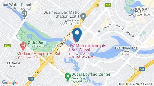 JW Marriott Marquis Hotel Dubai Map