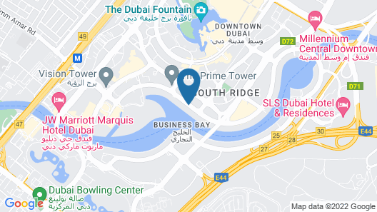 Renaissance Downtown Hotel, Dubai Map