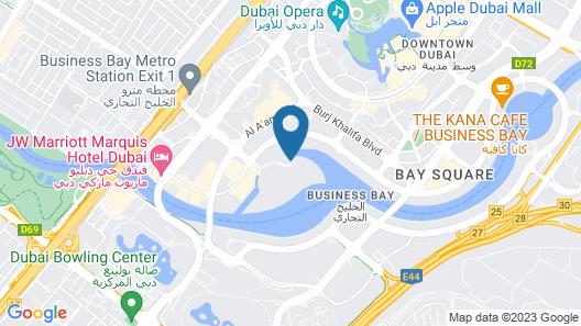 Radisson Blu Hotel Dubai Waterfront Map