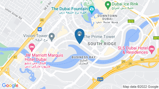 Steigenberger Hotel Downtown Dubai Map