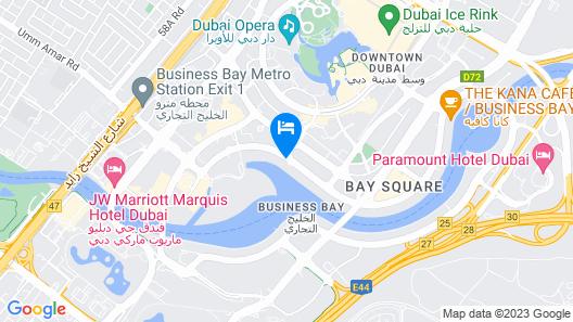 Pullman Dubai Downtown Map