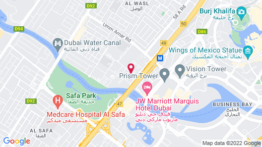 Holiday Inn Express Dubai Safa Park, an IHG Hotel Map