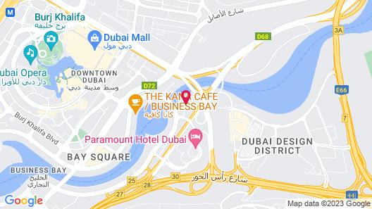 Radisson Blu Hotel, Dubai Canal View Map
