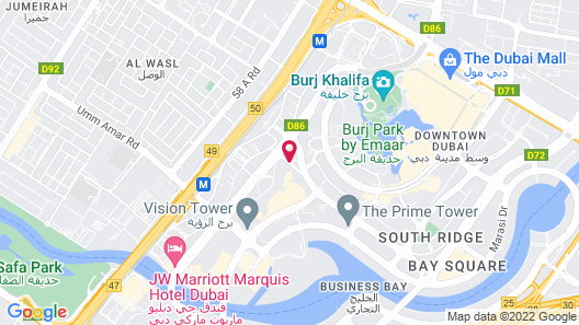 Taj Dubai Map