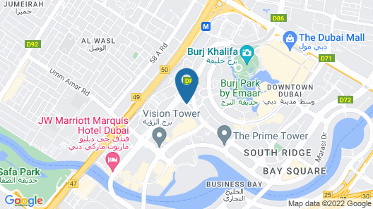 Taj Dubai Map