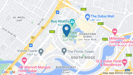 Ramada by Wyndham Downtown Dubai Map