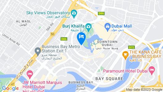 Ramada by Wyndham Downtown Dubai Map