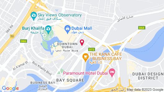 Mövenpick Hotel Apartments Downtown Dubai Map