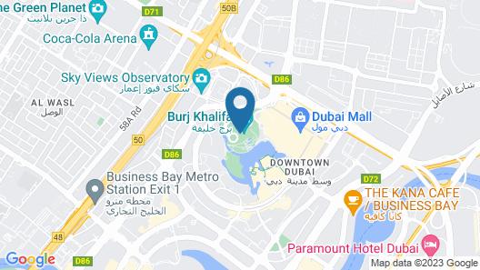 Armani Hotel Dubai Map