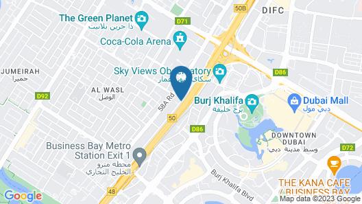 Leva Hotel and Suites, Mazaya Centre Map