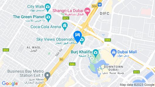 Sofitel Dubai Downtown Map