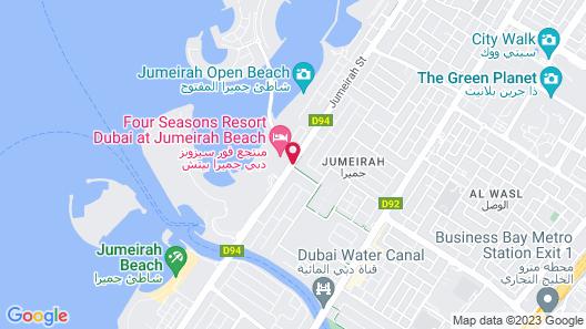Four Seasons Resort Dubai at Jumeirah Beach Map