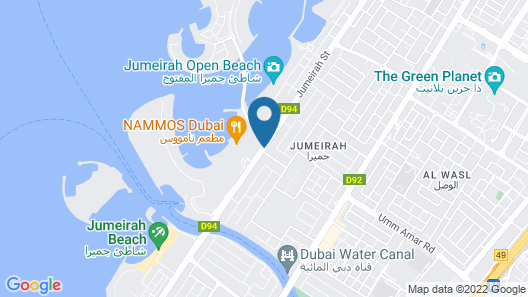 Four Seasons Resort Dubai at Jumeirah Beach Map