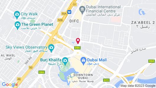 Swissôtel Al Murooj Dubai Map