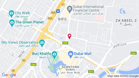 Rove Downtown Dubai Map
