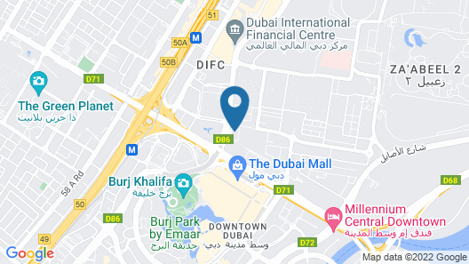 Rove Downtown Dubai Map