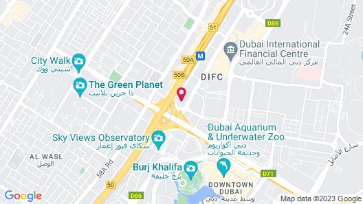 Dusit Thani Dubai Map