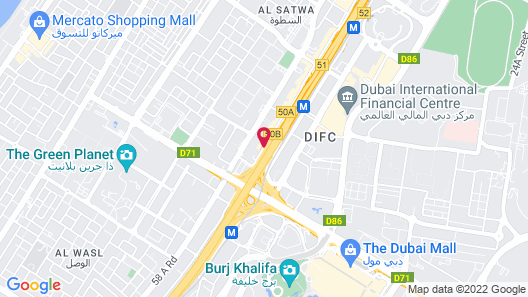 Shangri La Hotel Dubai Map
