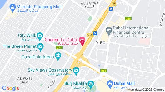 Shangri-La Dubai Map