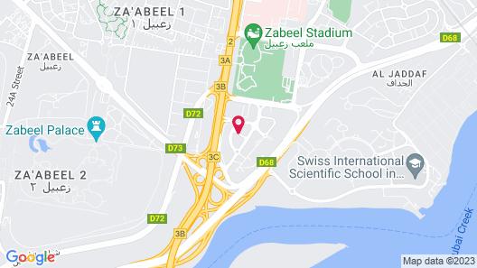 Marriott Hotel Al Jaddaf, Dubai Map