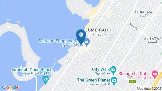 Mandarin Oriental Jumeira, Dubai Map