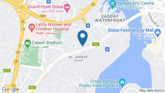 Element Al Jaddaf, Dubai Map