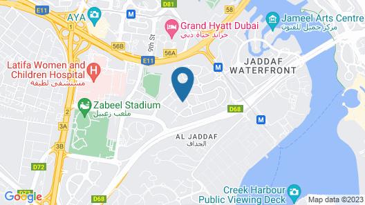 Al Jaddaf Rotana Map