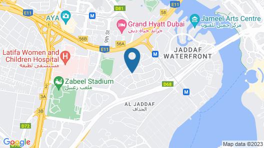 Premier Inn Dubai Al Jaddaf Map
