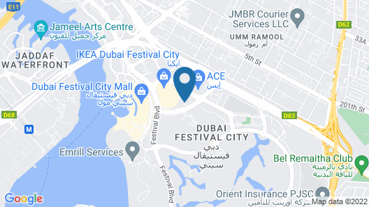 Holiday Inn Dubai Festival City Map