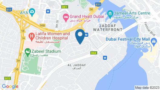 Hilton Garden Inn Dubai Al Jadaf Culture Village Map