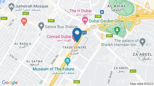 Conrad Dubai Map