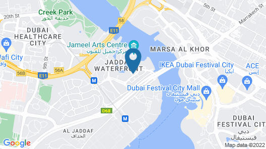 Suha Creek Hotel Apartment Map