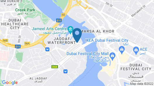Palazzo Versace Dubai Map