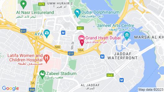 Grand Hyatt Dubai Map