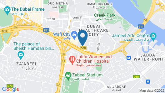 Raffles Dubai Map