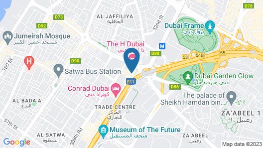 Sheraton Grand Hotel, Dubai Map